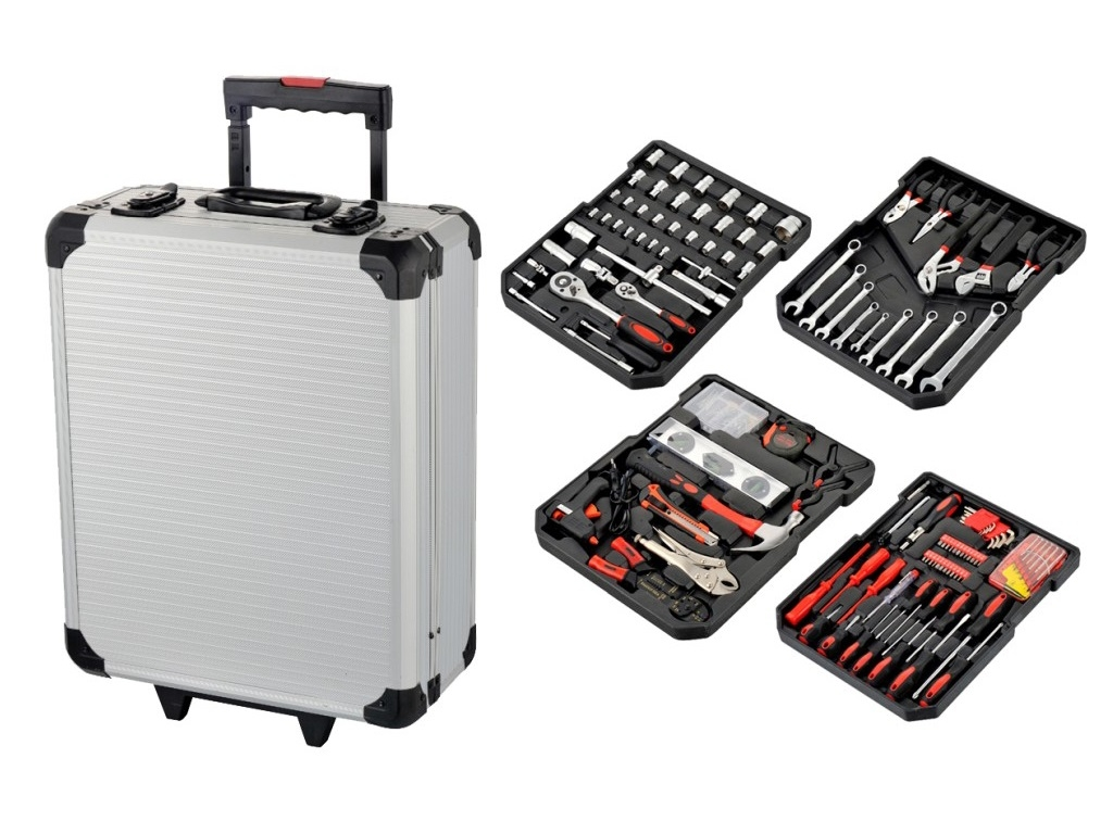 Storage  - Bormann - Set of hand tools in an aluminum trolley 186 pieces BTS3000