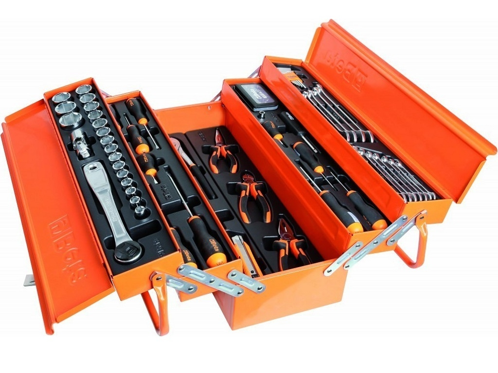 Storage  - Beta - Metal Toolbox with 91 tools 2120L-E/T91-E