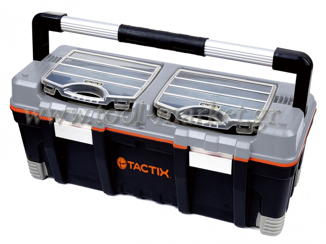 Storage  - Tactix - Tool box with 2 organizers & liftout tray