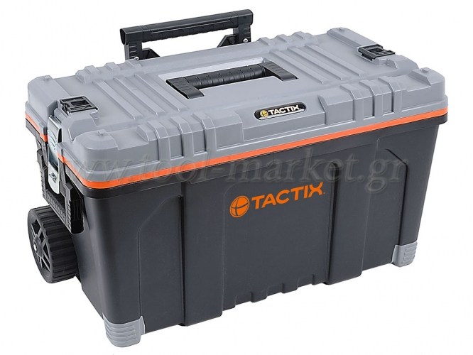 Storage  - Tactix - Mobile tool box, with liftout tray & telescopic handle