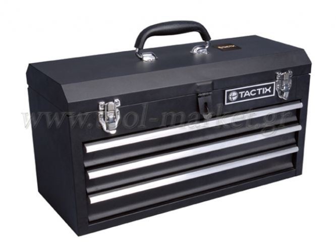Storage  - Tactix - 3-Drawer metal tool box