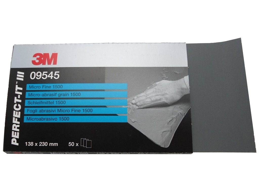 Auto - Moto Care Products - 3M - Microfine Blank Paper 401Q 138mm x 230mm P1500 (50 pcs)