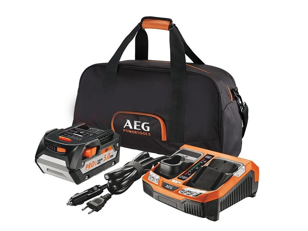Accessories - Consumables - AEG - Battery Kit 18V / 5Ah and quick charger with bag SET1850BLK