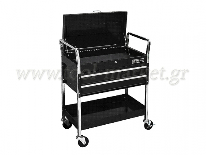 Storage  - Tactix - Metal Toolkits (with 4 wheels 2 drawers & 1 shelf)