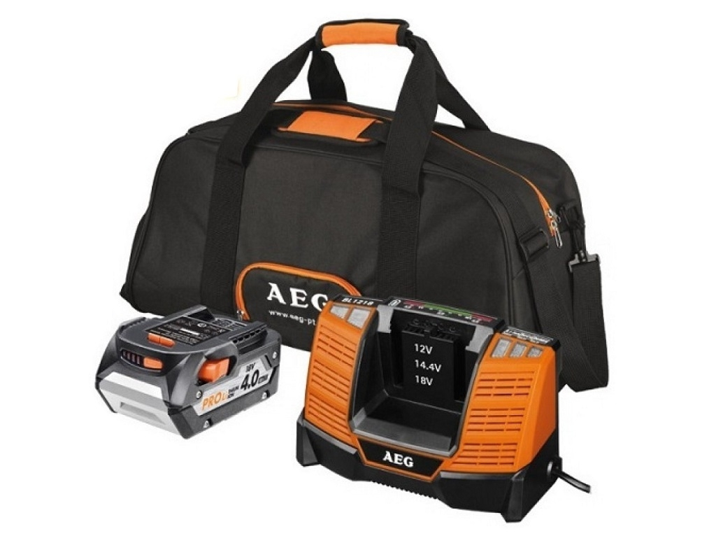 Accessories - Consumables - AEG - Set battery 18V / 4Ah and quick charger with bag SET1840BL