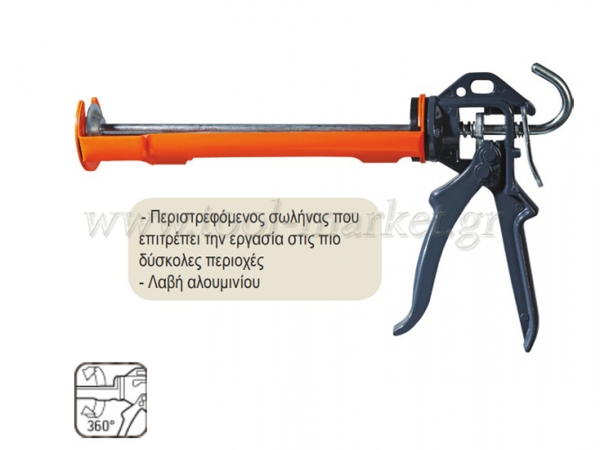 Neo Tools - Πιστόλι σιλικόνης 240mm, 300ml