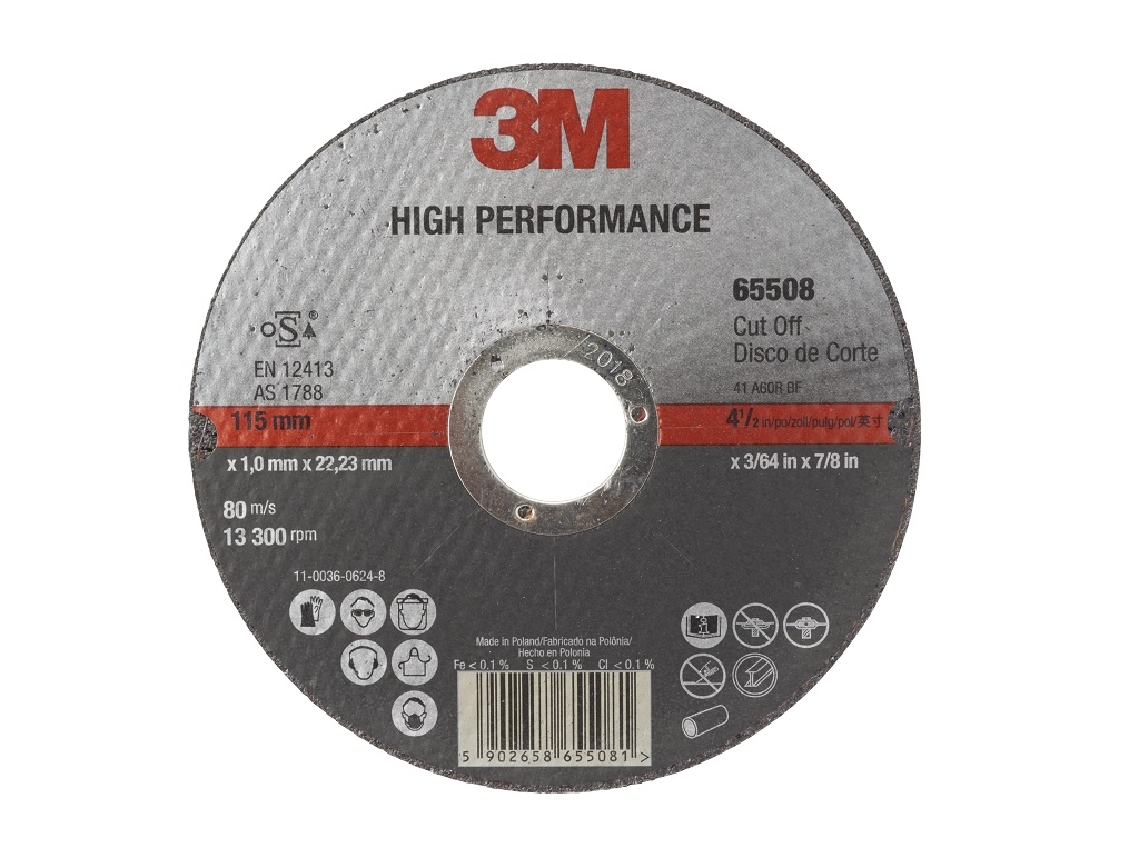Accessories - Consumables - 3M - Steel / Inox High Performance T41 115mm cutting disc