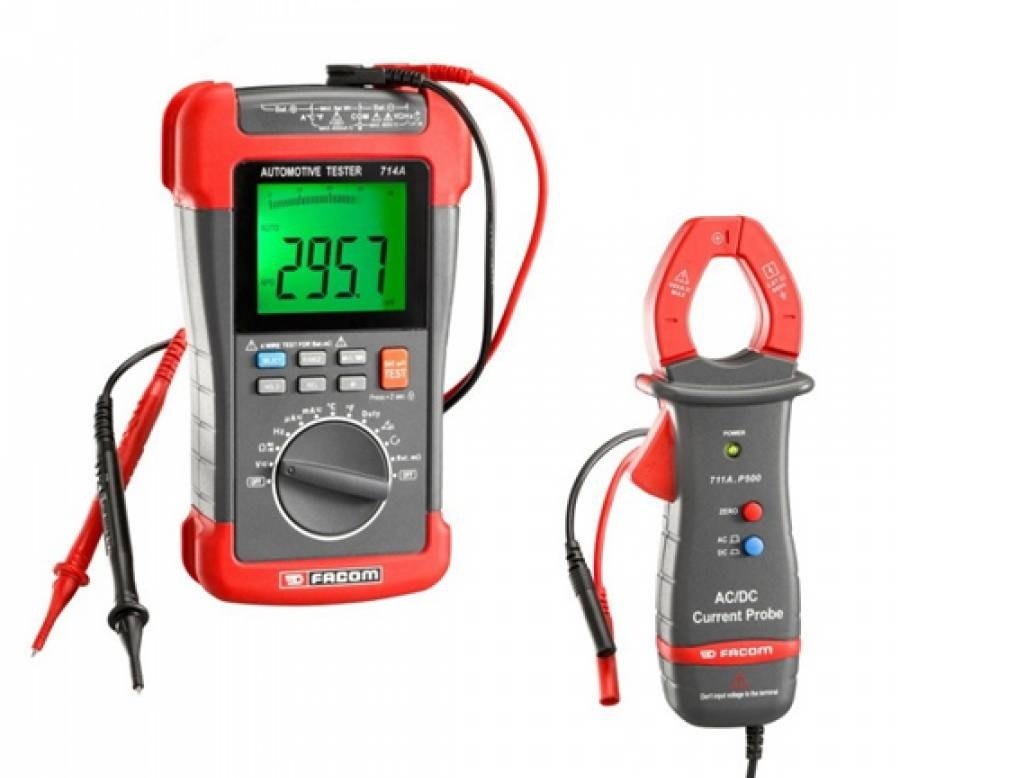Facom - Set multimeter Car & ampere torch - Electrician Tools