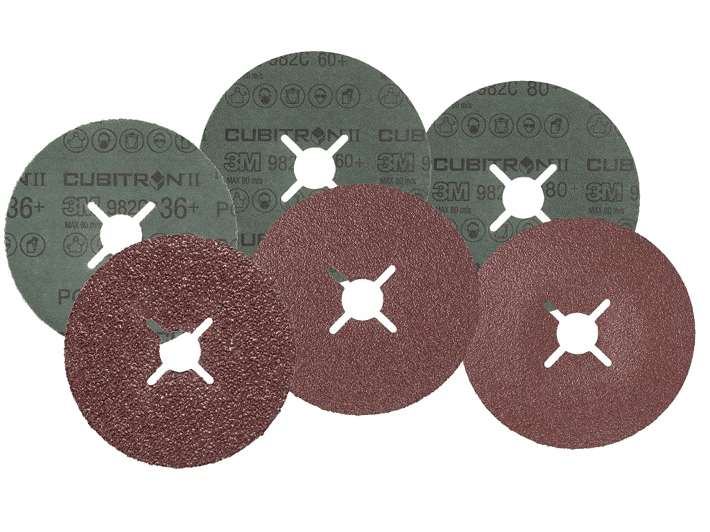 Accessories - Consumables - 3M - Fiber Disc Cubitron ™ II 982C P60 125mm x 22mm with Notches