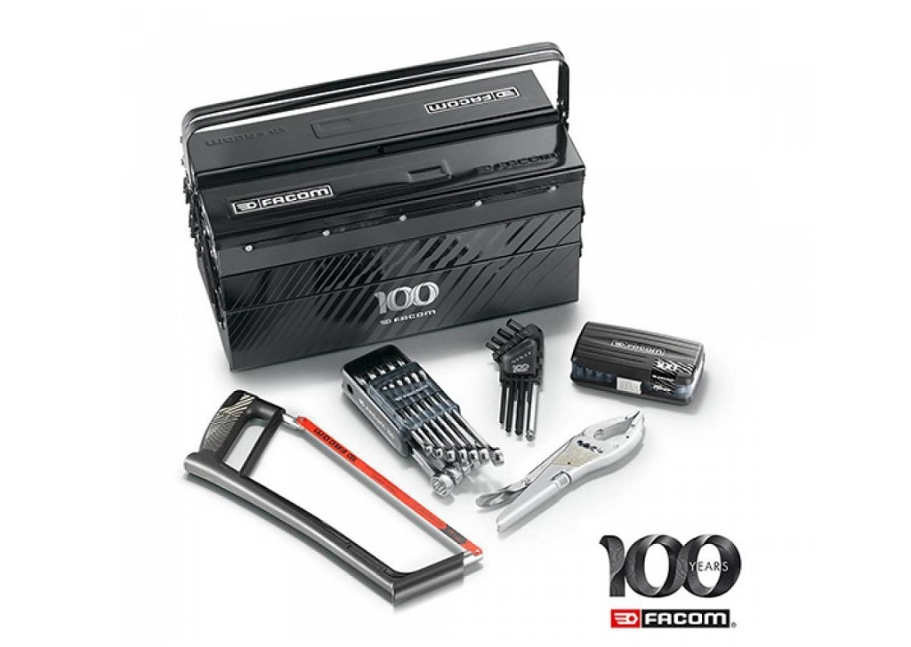 Storage  - Facom - 5-seat toolbox with tools (61pcs)