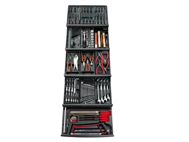 Hand Tools - Facom - Collection of 145 tools in 13-compartment composition