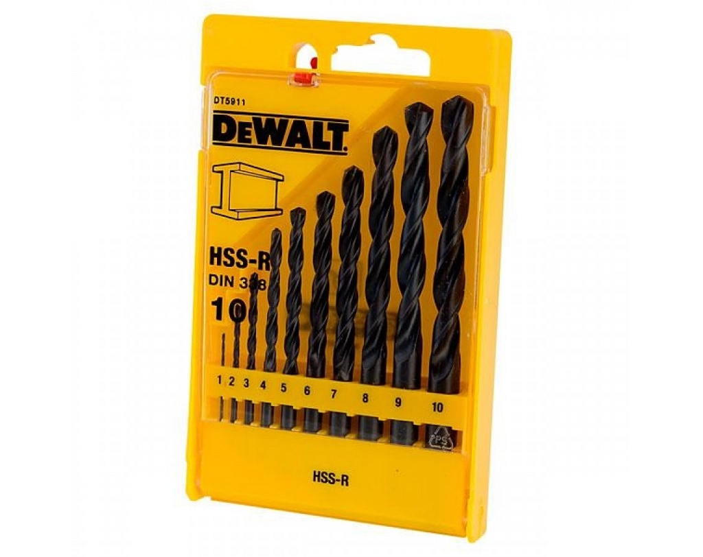 Accessories - Consumables - DeWALT - HSS-R 10 pcs Metal Drill Set