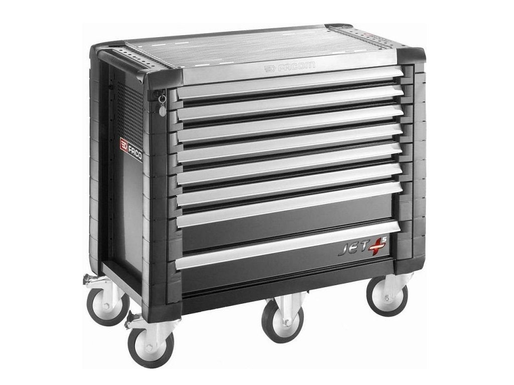 Storage  - Facom - Jet + trailer with 8 drawers (5 drawers per drawer)