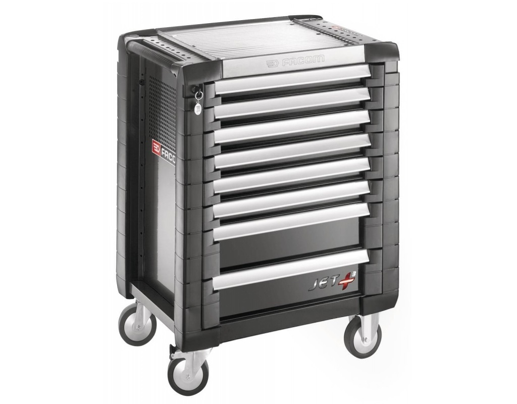 Storage  - Facom - jet + trailer with 5 drawers (3 drawers per drawer)