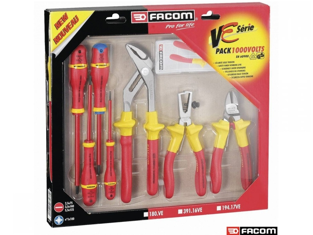 Facom - 7pcs 1000V pliers and screwdrivers - Set of Tools