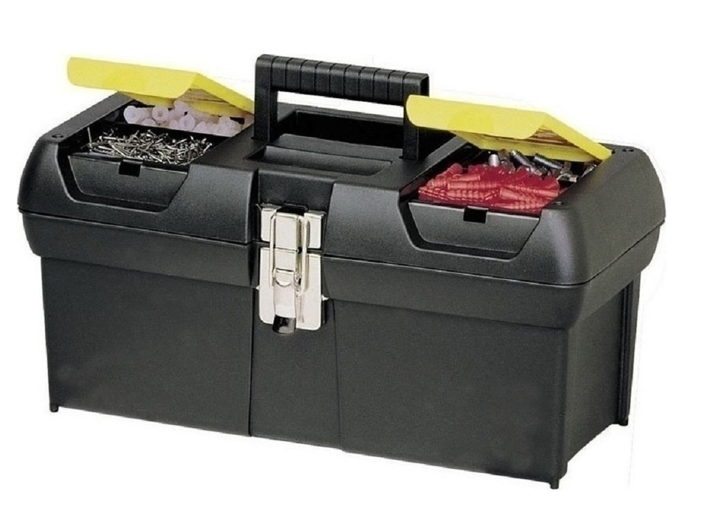 Storage  - Stanley - Stanley Toolbox with Two Built-in Cigarettes & Disc Series 2000 (Metal Fasteners) 12.5 ''