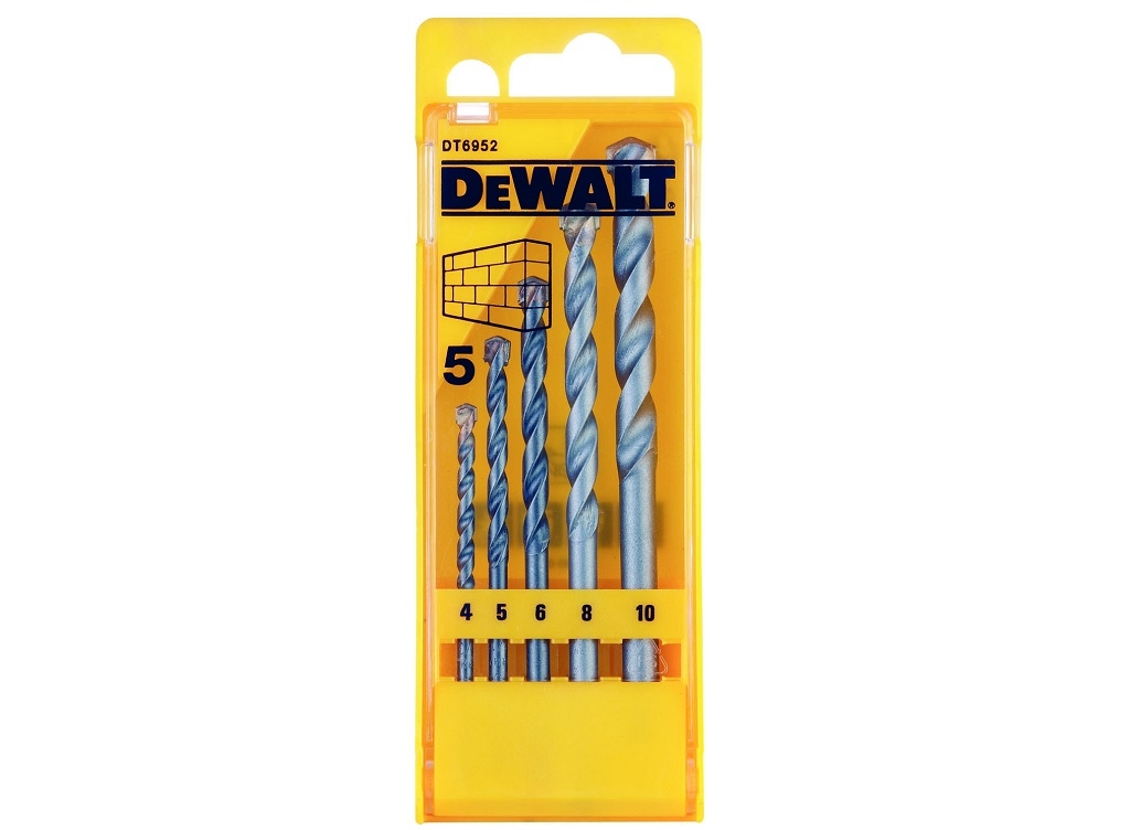 Accessories - Consumables - DeWALT - Set Drillers Building Materials 5pcs.