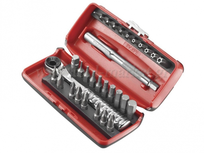 Hand Tools - Facom - Set with very little Ratchet 1/4'' & tips