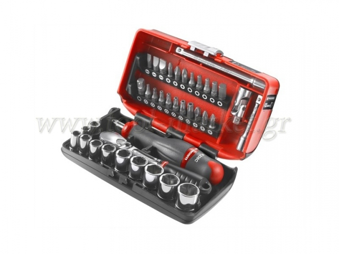 Facom - Set Socket & Screwdriver Bits 1/4'' 6gon - Socket sets(Collections) - Sockets