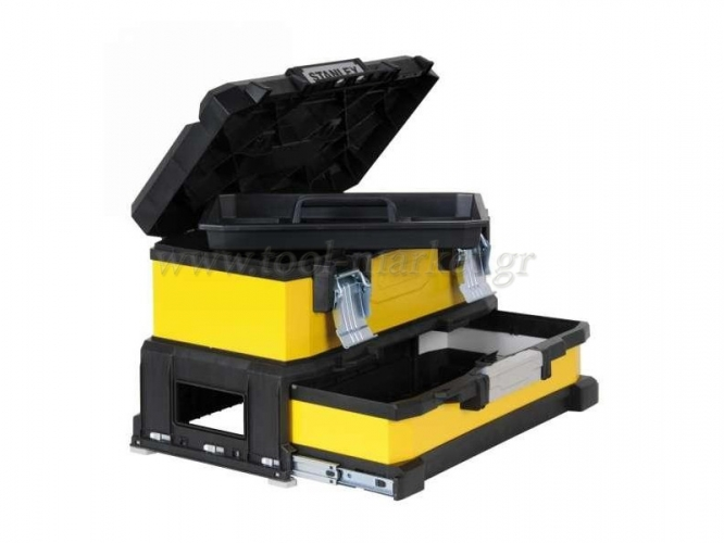 Storage  - Stanley - Toolbox 20'' yellow metal with plastic tray