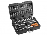 Neo Tools - Set Socket 46tem. with 1/4 ratchet and extension - Socket sets(Collections) - Sockets