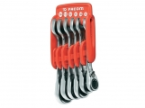 Facom - Set of 6 ratchet wrench near Plastic case - Wrenches