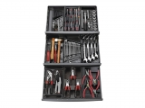 Facom - Collection of 101 tool sets in 9 drawers - Socket sets(Collections) - Sockets