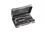 "Facom - Ratchet box with 1/2 ""and 1/4"" ratchet hooks (30 pieces) - Socket sets(Collections) - Sockets"