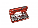 Facom - 1/2 '' Round Ratchet Case with hexagons (21 pieces) - Socket sets(Collections) - Sockets